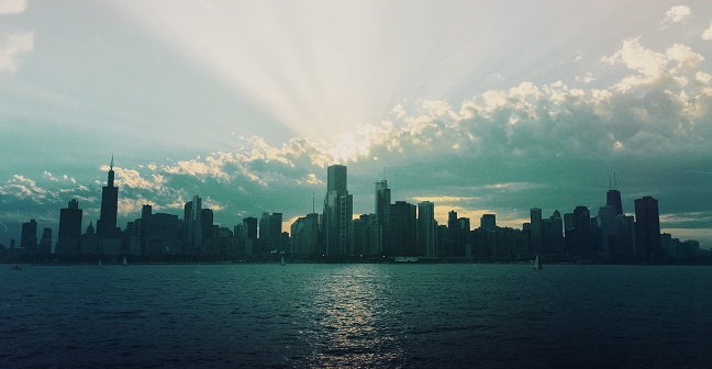 chicago.skyline.rays
