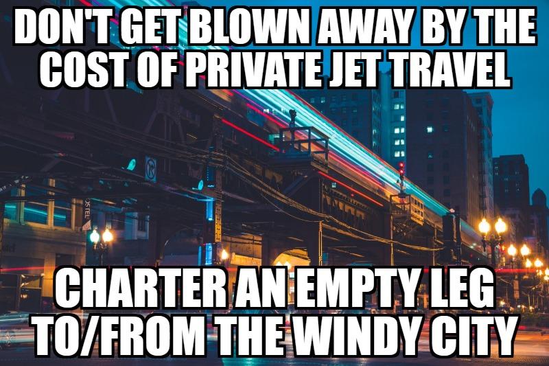 empty leg private jets chicago il