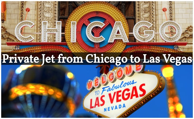 private jet charter flights from Chicago to Las Vegas